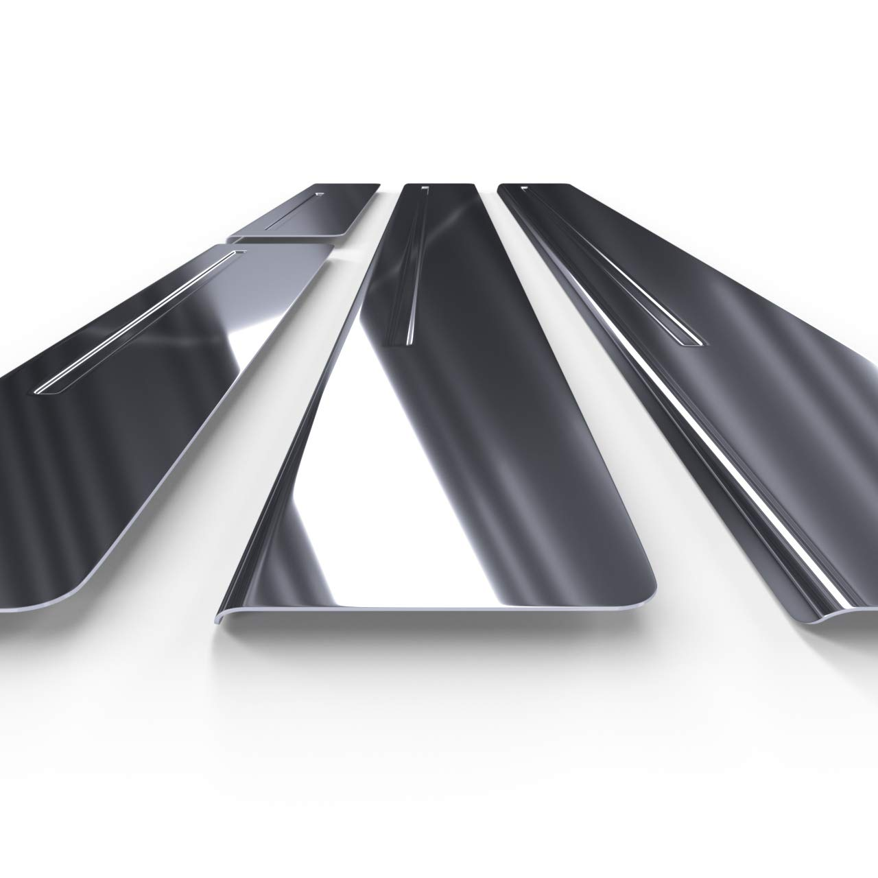 Kit battitacco auto in accciaio 5902538677080 4 pz argento lucido