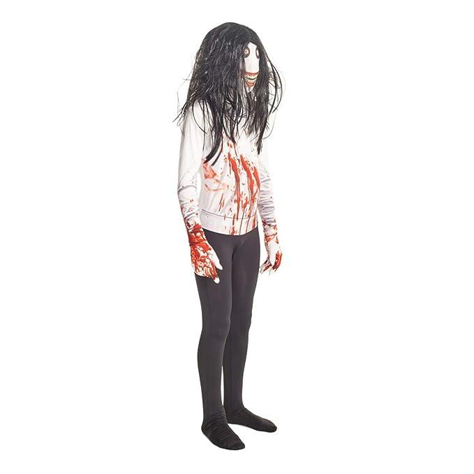 Morphsuits Jeff The Killer Urban Legends Kids Costume, Black/White - size Large 4-46 (120cm-137cm)