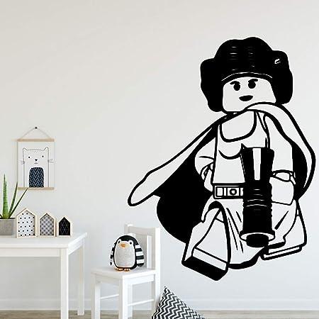 Ajcwhml Pegatinas de Pared de Dibujos Animados Europeos Mural Art ...