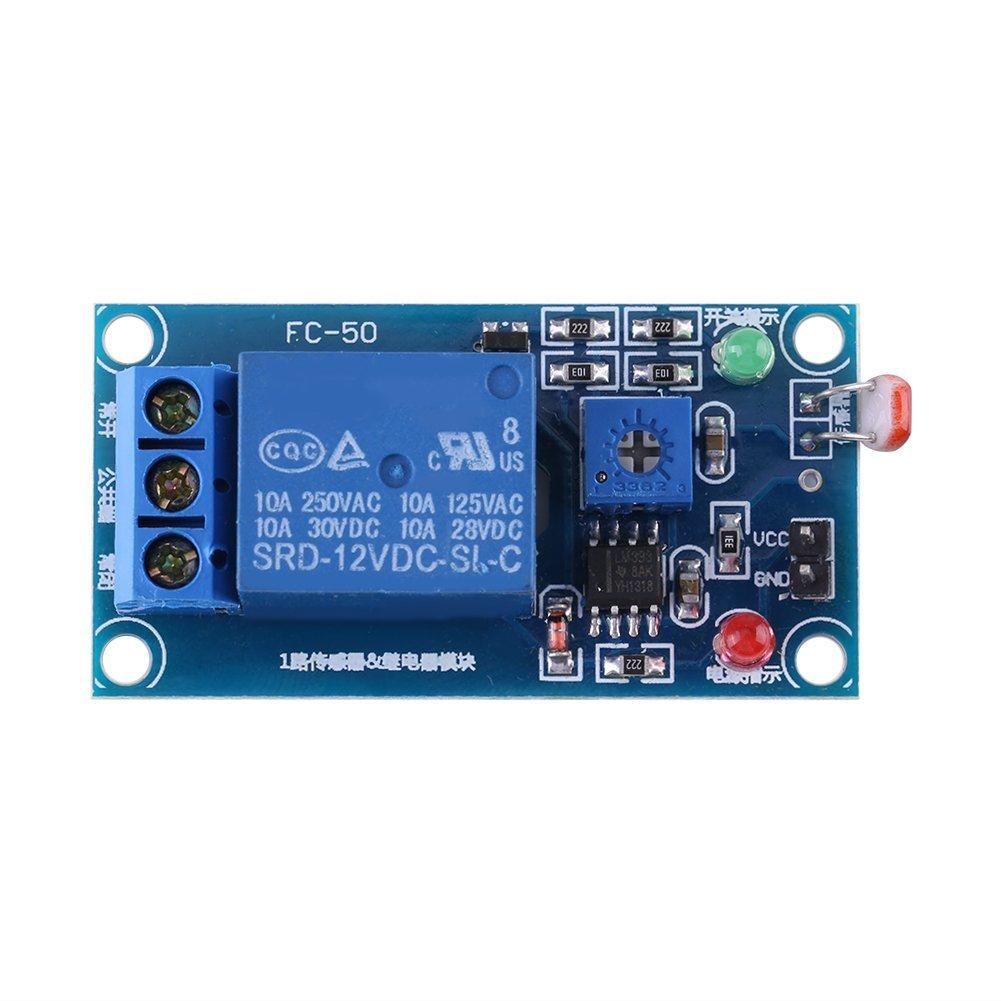 1 PC 12 V Stabiler Lichtsensor Schalter LDR Photowiderstand Relaismodul Controler Zerone