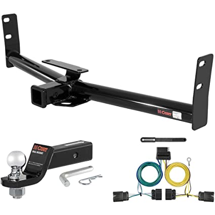 "CURT Class 3 Hitch Tow Package with 2"" Ball for Chevrolet Equinox, GMC Terrain"