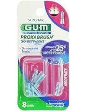 GUM Go-Betweens Proxabrush Refills Moderate [612] 8 Each (Pack of 5)