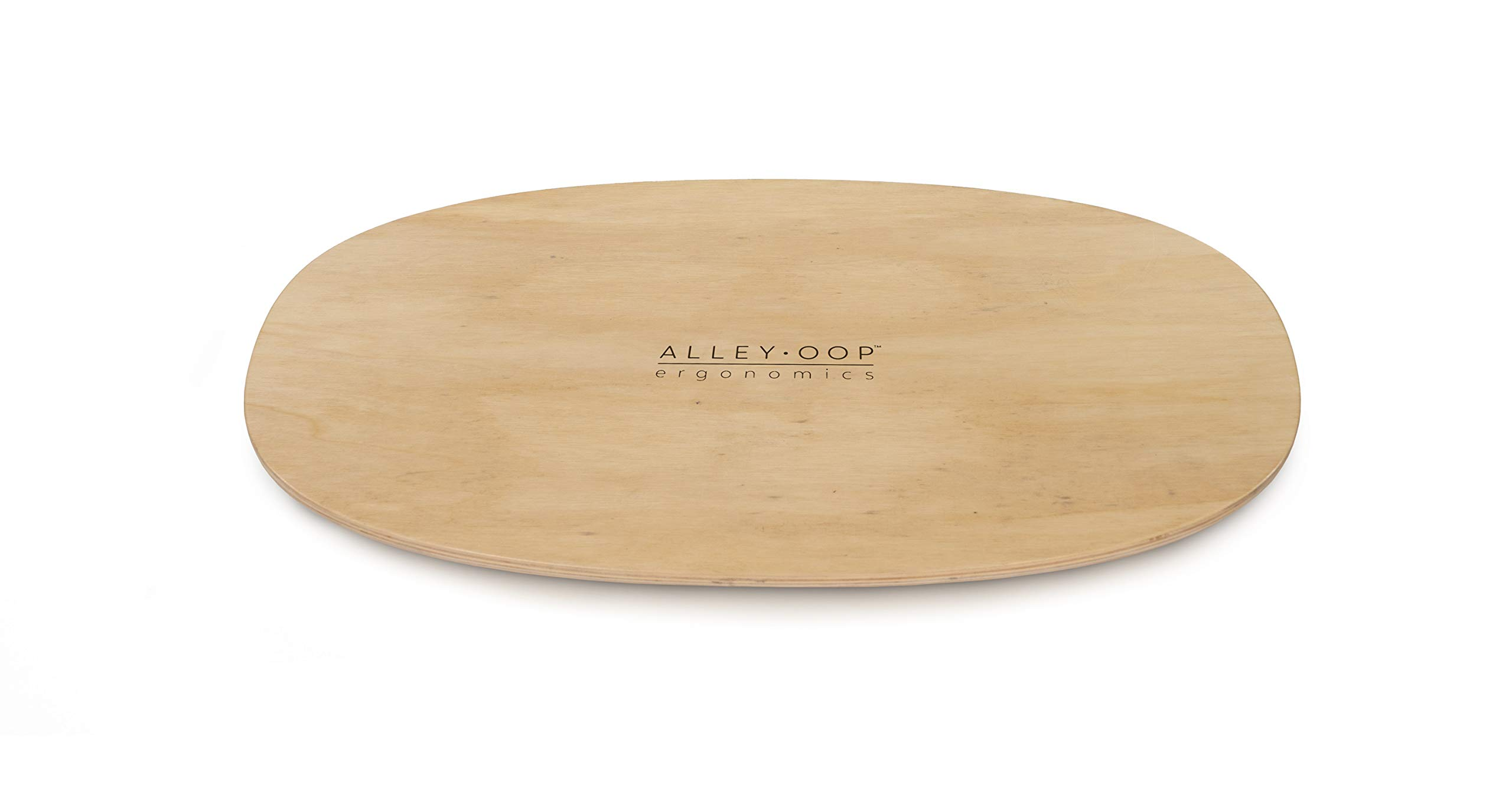 ALLEYOOP Wood Rocker Board • Unique 360° Omni-Directional Rocking Movement • Ergonomically Engineered for Stability at Your Standing Desk