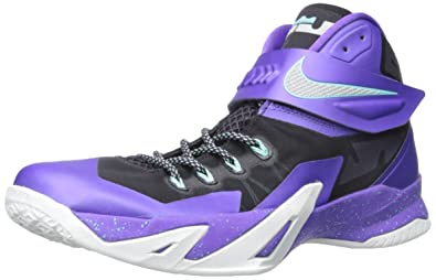 Men\u0027s Nike Zoom Soldier VIII Basketball Shoe (11, Purple/Metallic Silver)