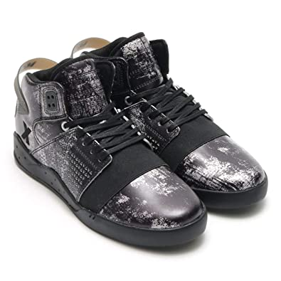 5860b3aab27a Supra Mens Skytop III Reflections Black Clear Shoes Size 9.5