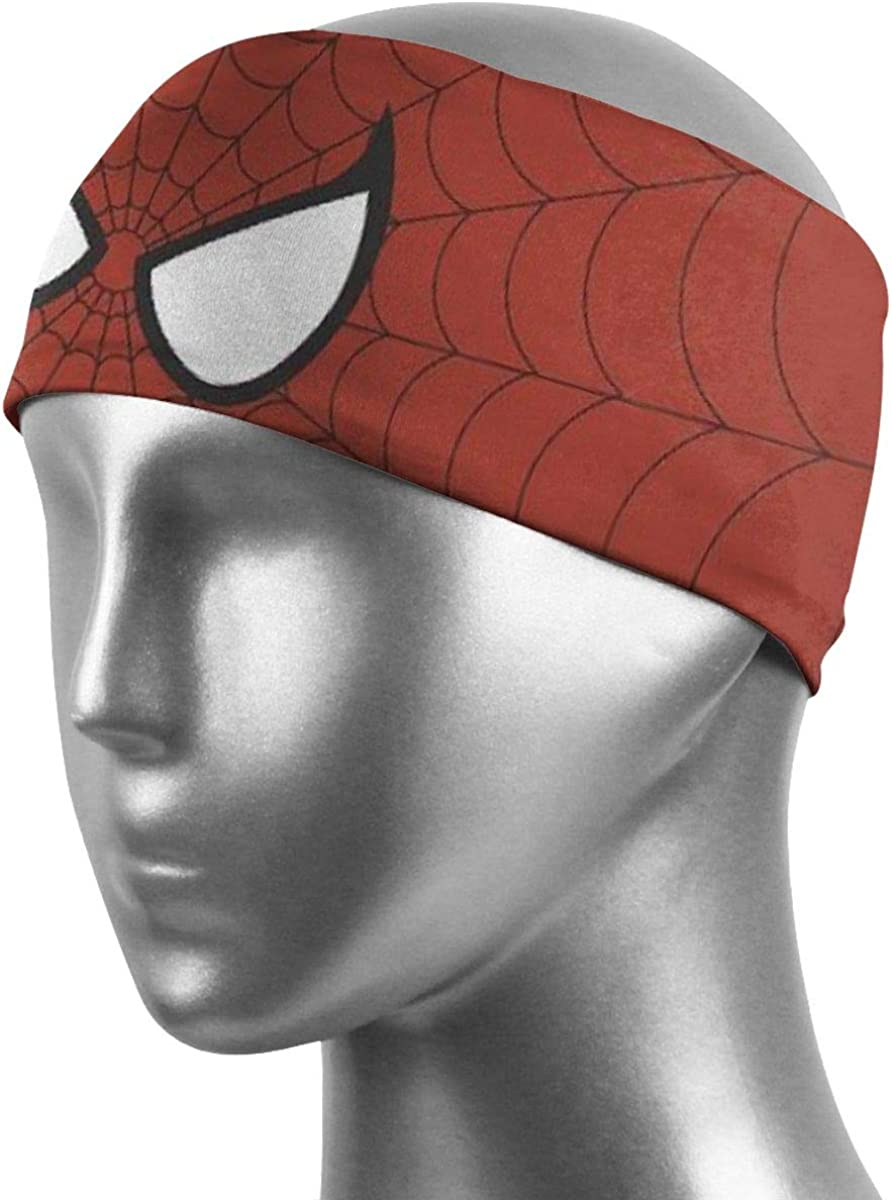 Juhucc Spider-Man Headbands Sports Sweatbands Terry Cloth Moisture Wicking Athletic Basketball Headband for Mens Womens