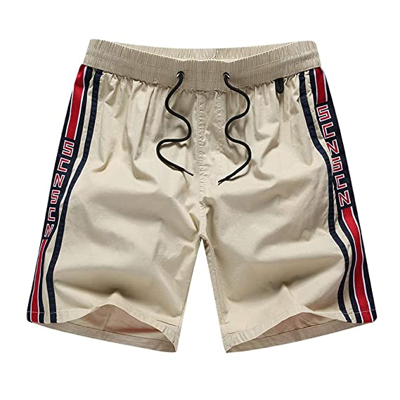 Hombres Pantalones Cortos Deportivos de algodón Bermuda Casuales ...