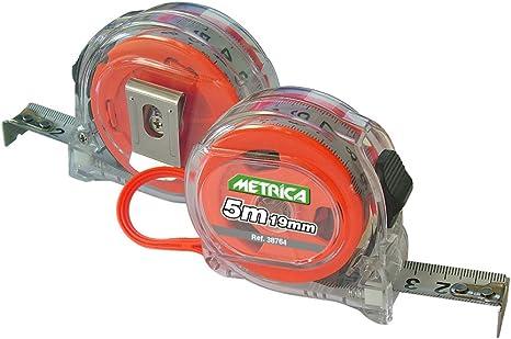 Metrica 38764 M.a.ruban.5m 19mm transp.double face.rot