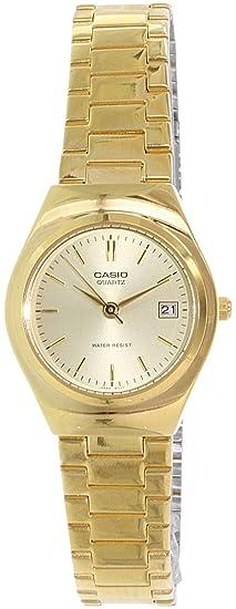 Casio LTP-1170N-9A - Reloj analógico de cuarzo para mujer, correa de acero inoxidable color dorado: Casio: Amazon.es: Relojes
