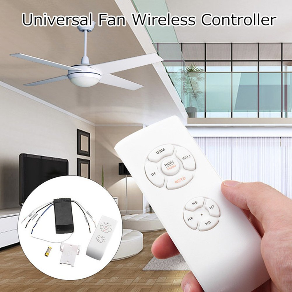 Steellwingsf Universal Ceiling Fan Lamp Remote Control Kit Timing Wireless Receiver Home Tool