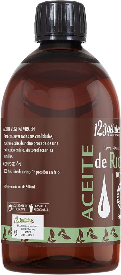 Aceite de Ricino 500 ml - 100% virgen - 1a presión en frío - Ricinus Communis: Amazon.es: Salud y cuidado personal
