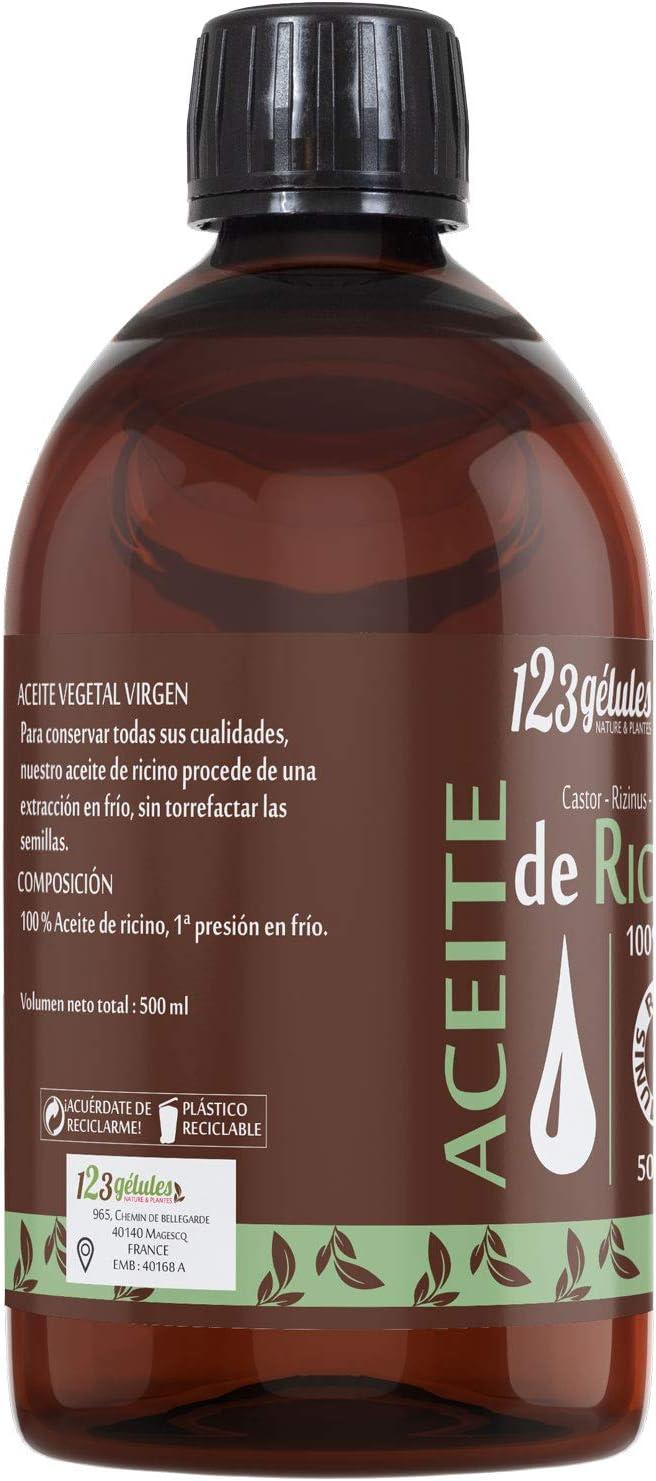 Aceite de Ricino 500 ml - 100% virgen - 1a presión en frío ...