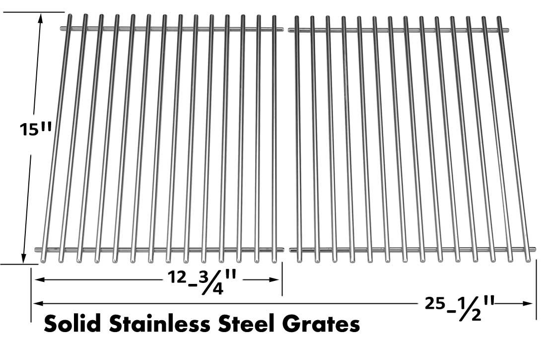 Stainless Cooking Grates For Signet 20B, Signet 70B, Crown 90, Signet 90, 9869-54, 94624, 94627, 1965-67 Broil King, Huntington Gas Models
