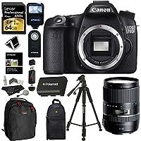 Canon EOS 70D Digital SLR Camera + Tamron AFB016C700 16-300 F/3.5-6.3 Di II VC PZD Macro IS Lens + Lexar 64GB Memory Card + Flash + Battery + Ritz Gear Case + Polaroid 57