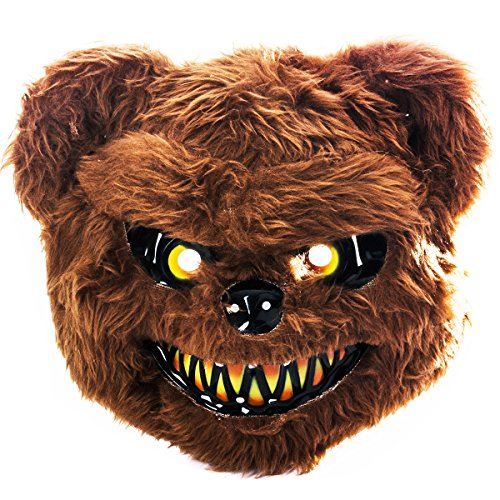 Tigerdoe Scary Mask - Halloween Bear Masks - Scary Animal Mask - Spooky Mask Brown -