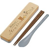 Skater斯凯达 木纹风格 组合套装 筷子 18cm 汤匙 套装 轻松熊 线花 CCS3WB