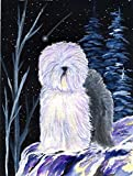 Caroline's Treasures SS8406CHF Starry Night Old English Sheepdog Flag Canvas, Large, Multicolor Review