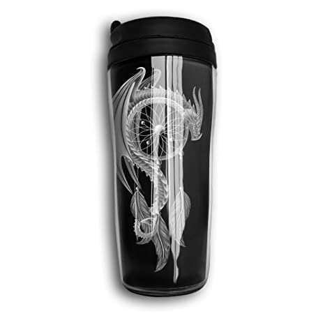 Amazon.com: Dragon Dream Catcher taza de viaje café termo ...
