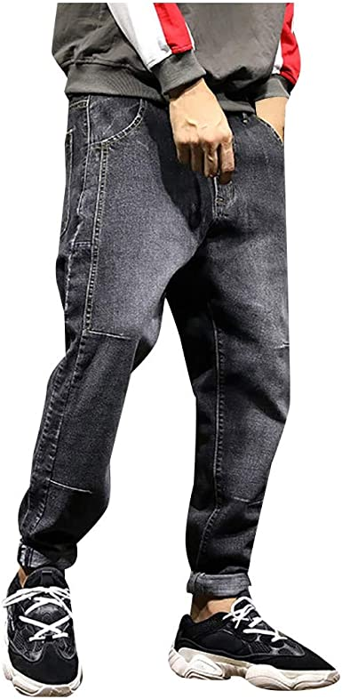 Dainzuy Short Pants for Men Slim Fit Casual Jeans Destroyed Knee Length Hole Ripped Fashion Jogger Trouser Pants