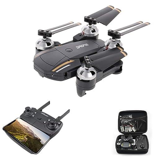 HUATXING Selfie Drone con cámara HD 720P / 1080P Gran Angular FPV ...
