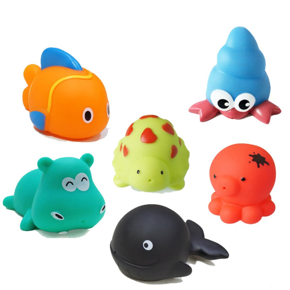 Panniuzhe Bain flottant Baignoire Toys Lot de 6pour les tout-petits Bébés enfants