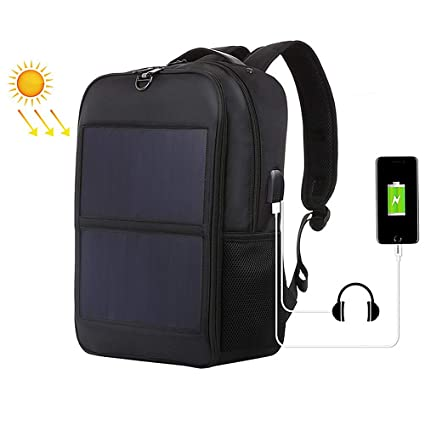 Mochila Grande con Panel Cargador Solar 14W, Bolsas de ...