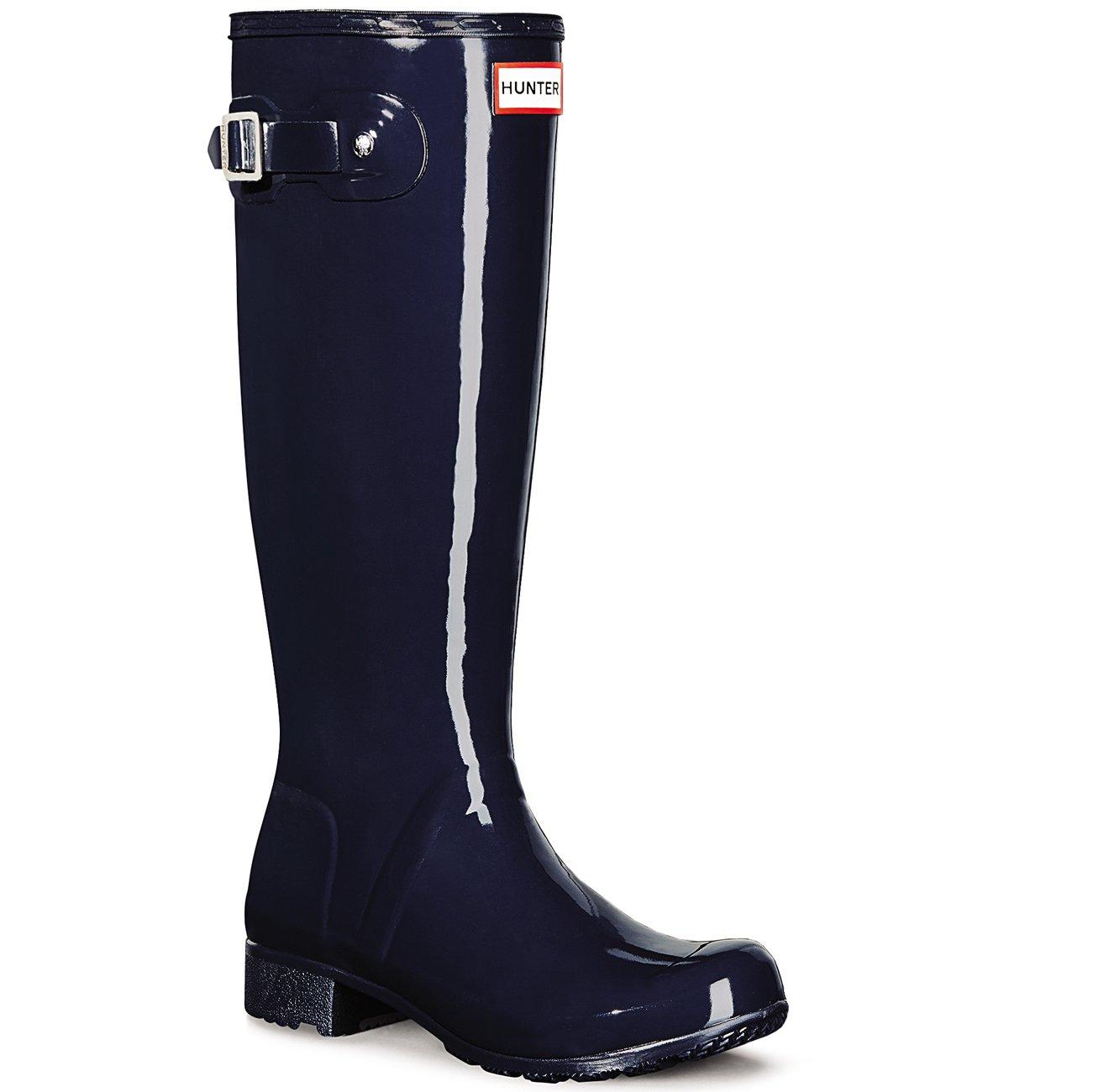 Hunter Women s Original Tour Gloss Rain Boots Navy 8