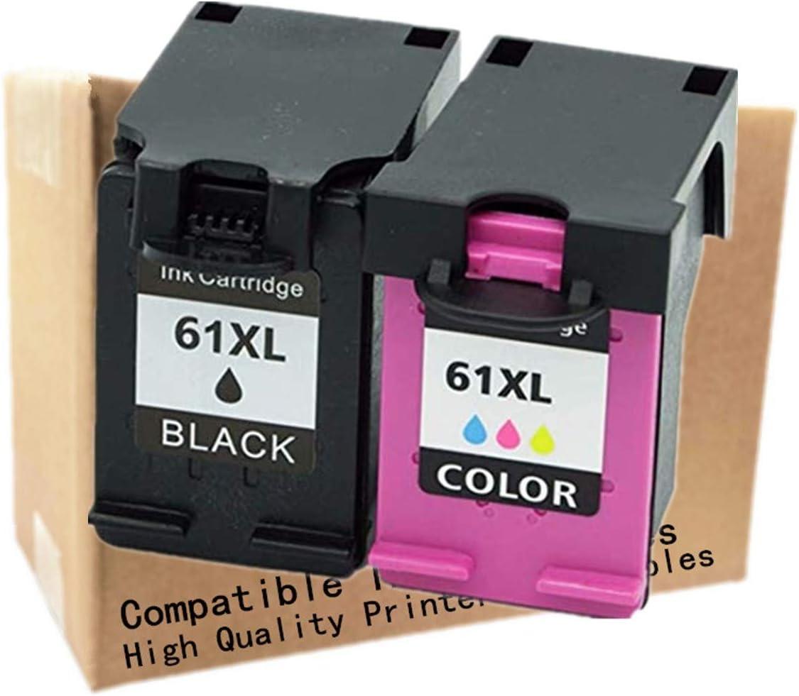 No-name Remanufactured Ink Cartridges Replacement for HP HP61 HP61XL 61 XL 61XL CH563WN CH564W Envy 4500e 5530e 4630e Deskjet 1050 1051 1055 Inkjet Printer (1 Black + 1 Tri-Color)