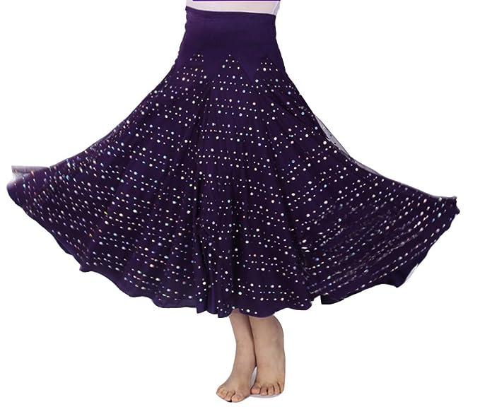 Mujer Falda Maxi Larga para Danza del Vientre Tribal Trajes De ...