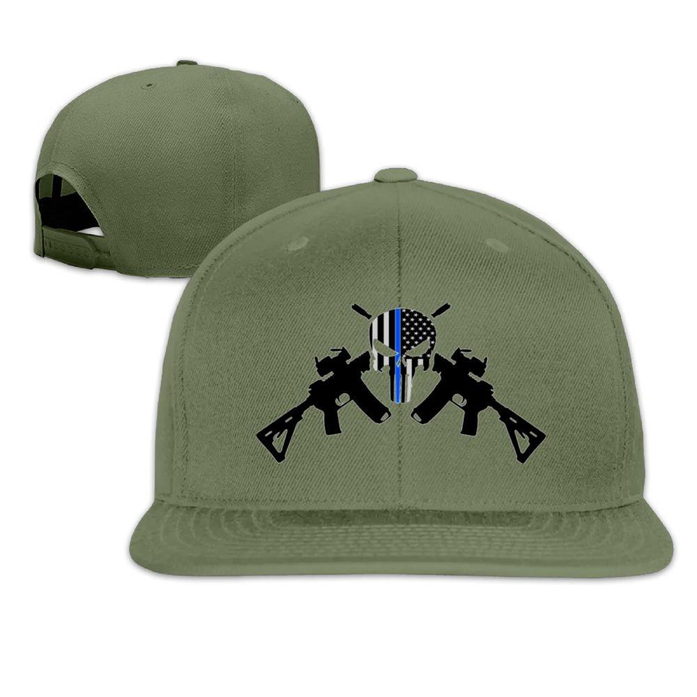 Jusxout Police Romans Snapback Unisex Adjustable Flat Bill Visor Hip-Hop Hat