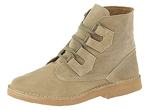 Mens Ghillie Tie Desert Boots Dark Taupe Suede Leather: Amazon.co.uk: Shoes  & Bags