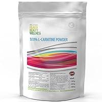 L-Carnitine Powder - 250g L-Carnitin / 80 Tagesportionen | 100% reines Pulver ohne Zusätze | unterstütz Stoffwechsel-Energie-Gewinnung & Fettverbrennug