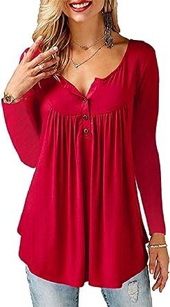 Blusas de moda en color rojo