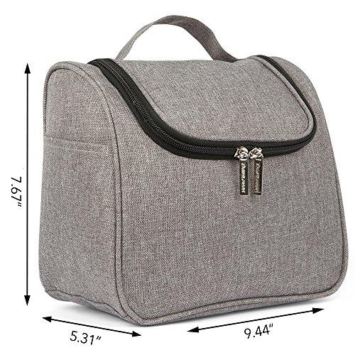 Toiletry Make Cosmetics Shower Case Woman Grey amp; Kit Portable Bag Wash amp; Hygiene up Toiletries Men Traveling Travel Grey Bathroom Essentials Hanging Organizer amp; for HBdCwqHc