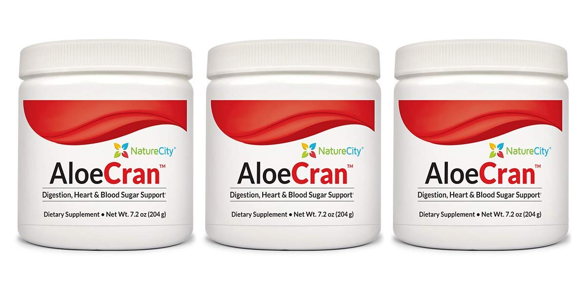 AloeCran - Sugar Free Aloe Vera & Cranberry Drink Mix Featuring 5 Grams of Organic Fiber - 3 Pack