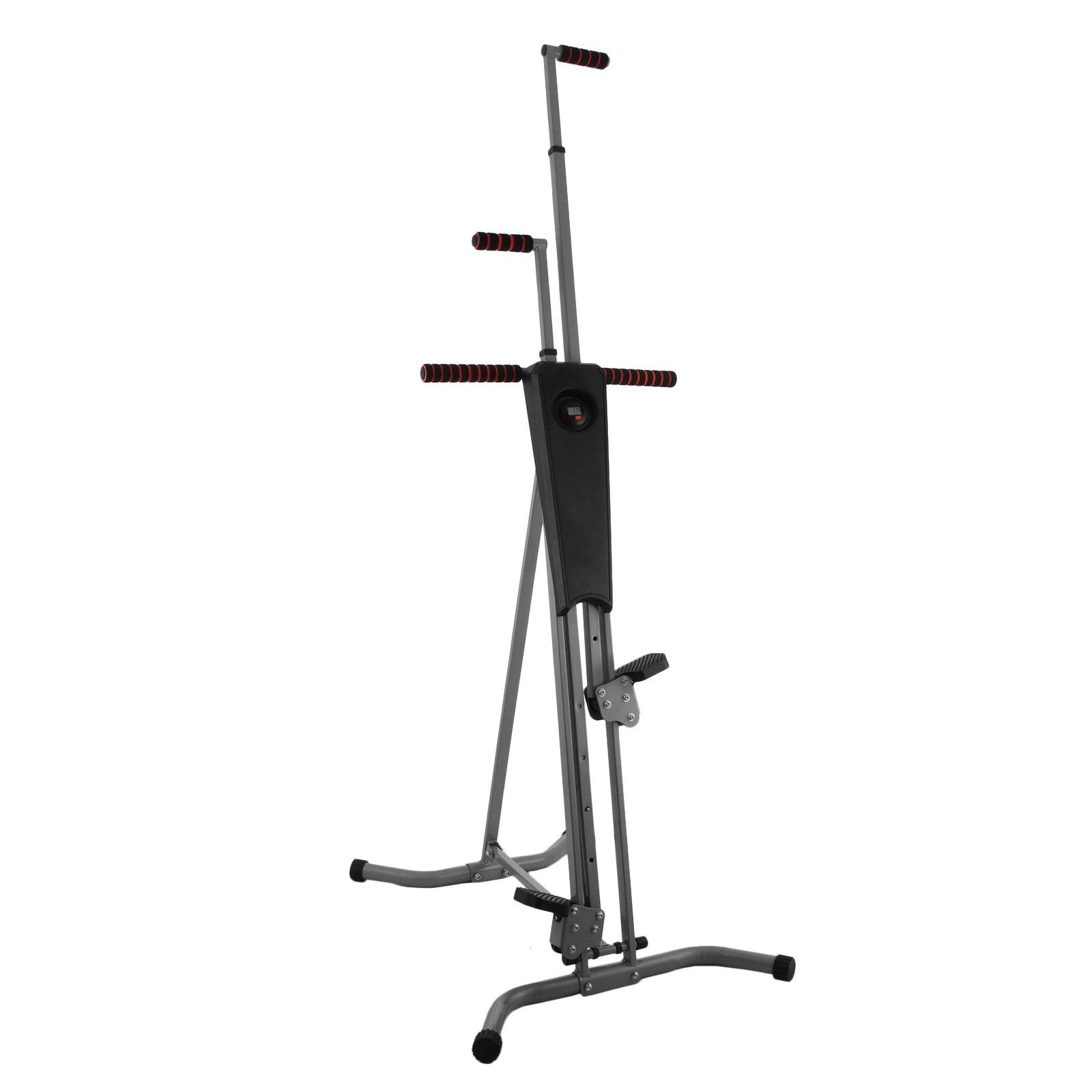 Popsport 440LBS Climber Machine Fitness Stepper Climber Exercise Equipment Vertical Climber for Home Gym Exercise Stepper Cardio Climbing System (P8006,Gray) by Popsport (Image #1)