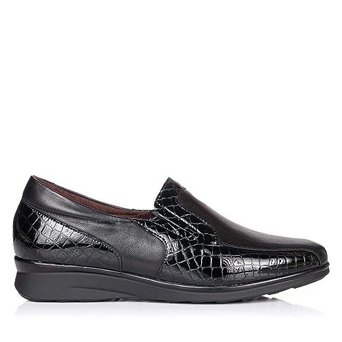 PITILLOS 5703 Zapato Mocasin Piel Confort Mujer: Amazon.es