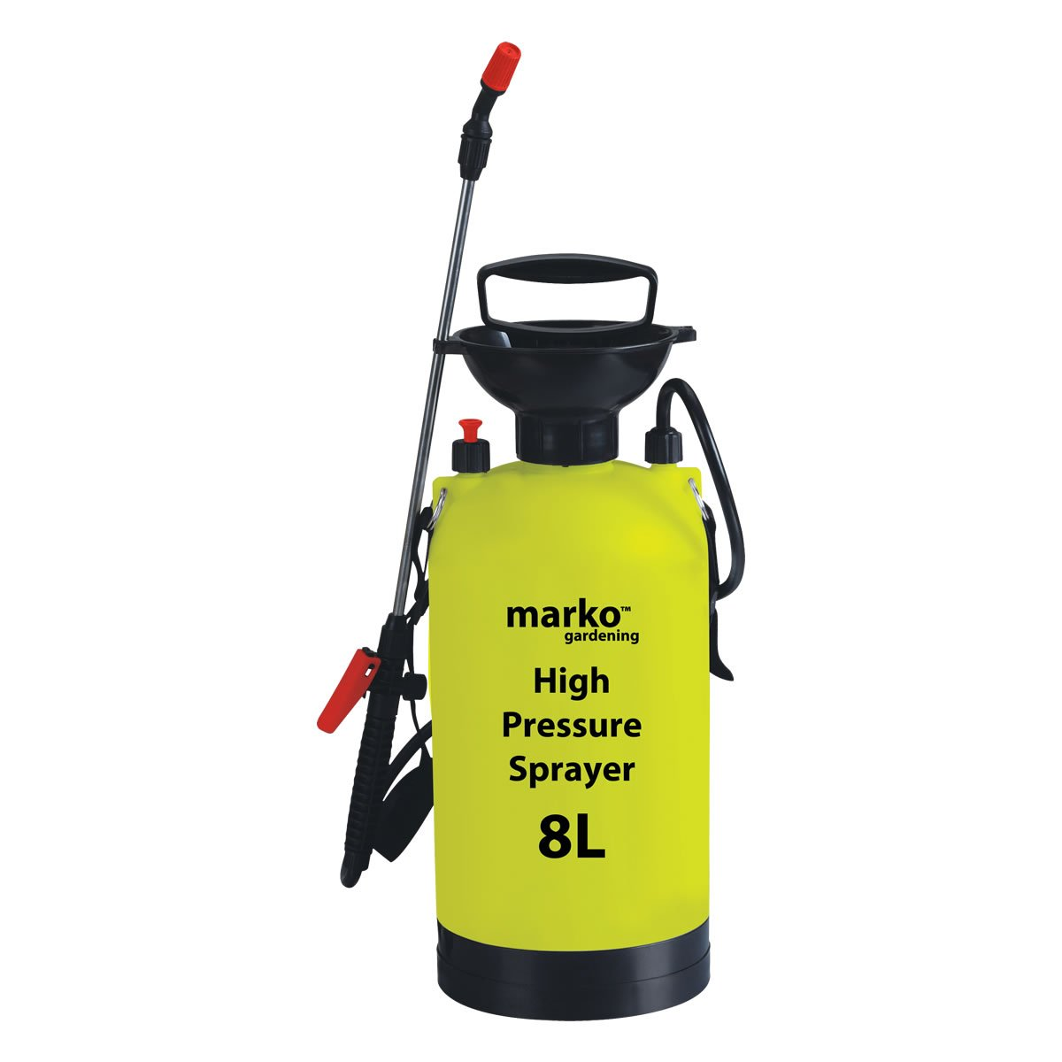 8L Litre Manual High Pressure Sprayer Bottle Knapsack Spray Weed Killer Garden Marko