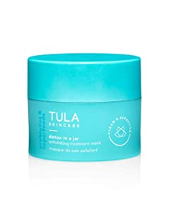 TULA Probiotic Skin Care Detox in a Jar Exfoliating Treatment Mask with Hydrating Vitamin E, Soybean Oil and Bentonite Clay | 1.7 oz
