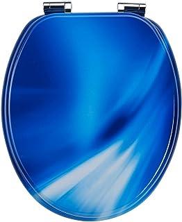 EISL Abattant WC en MDF Blue Wave avec Frein de Chute, EDBW01SC, Multicolore