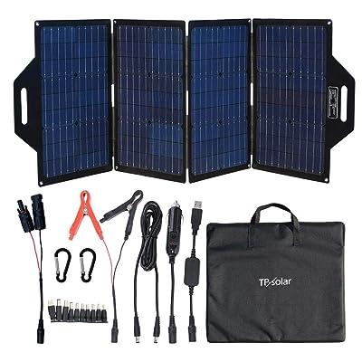 TP-solar 120 Watt Foldable Solar Panel Battery Charger Kit for Portable Generator Power Station Cell Phones Laptop 12V Car Boat RV Trailer Battery Charge (Dual 5V USB & 19V DC Output) : Garden & Outdoor