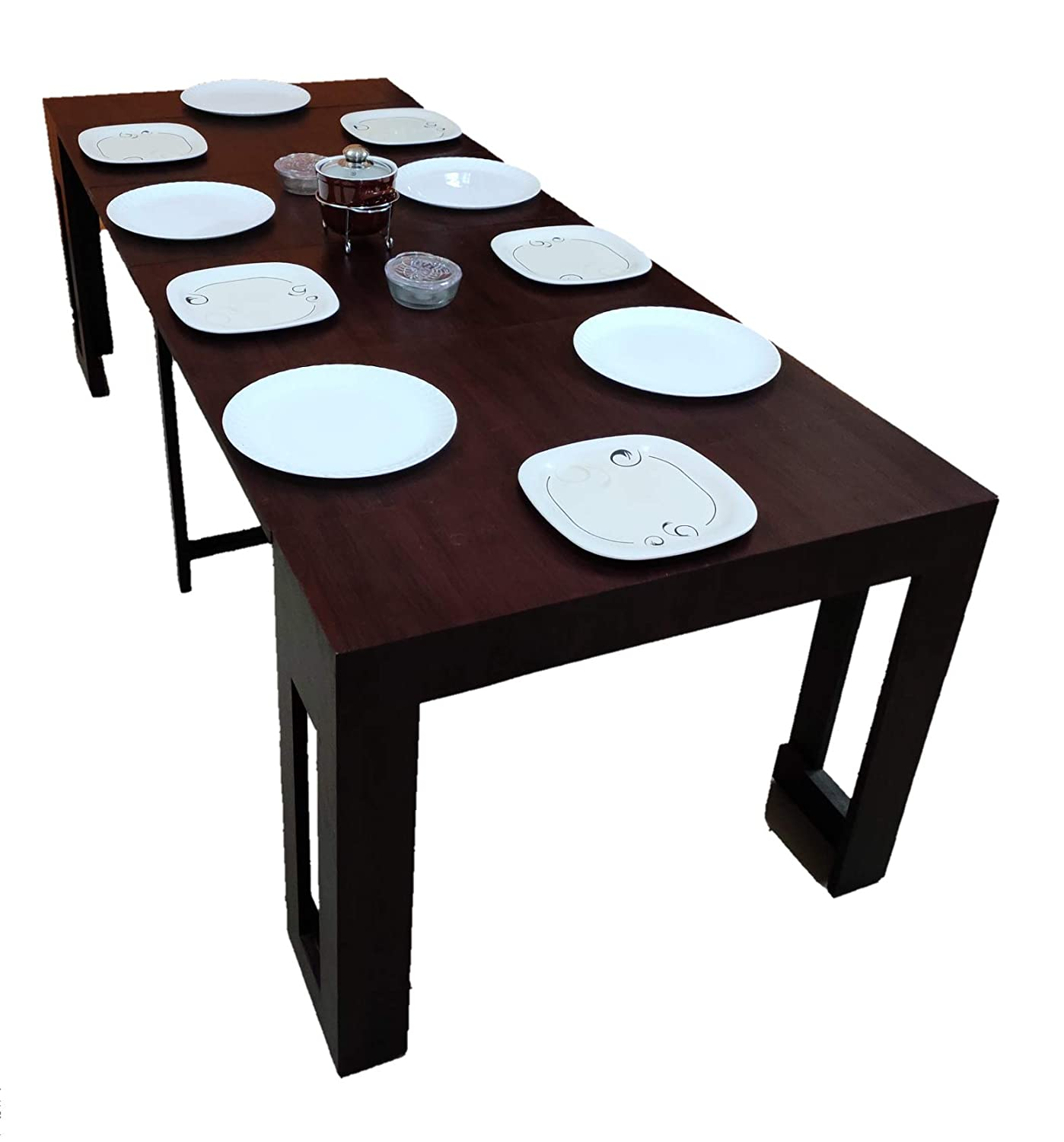 Gloryfolding Folding Dining Tables Expanding 4 6 8 To 10 Seater Console To Dining Space Saving For Home Kitchen Restaurant Office Use In India Amazon In Home Kitchen