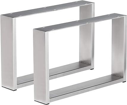 1 par de pie de mesa mesa de acero inoxidable (estructura mesa ...
