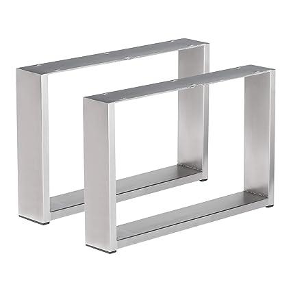 1 par de pie de mesa mesa de acero inoxidable (estructura ...