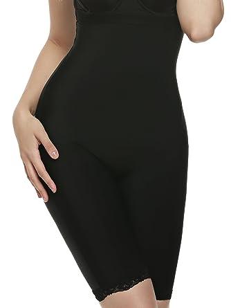 135cbdb034 Ekouaer Body Shaper Womens Butt Lifter Control Panty Hi-Waist Thigh Slimmer  Black