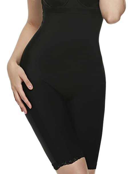 556f7ac2e6df5 Ekouaer Body Shaper Womens Butt Lifter Control Panty Hi-Waist Thigh Slimmer  Black
