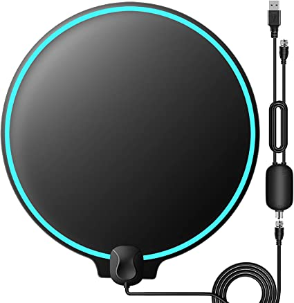 No Vibration Omnidirectional Macromolecule Performance Carbon Fiber 120 Miles TV Antenna Latest 2020 Amplified Indoor TV Digital HD Antenna 4K Fire TV Stick Local Channels All Type Television