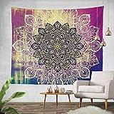 Sky castle Mandala Tapestry Wall Hanging Colorful Watercolor Printed Nature Home Decor for Living Room Bedroom Dorm Room 59.1''x78.7''- Mandala