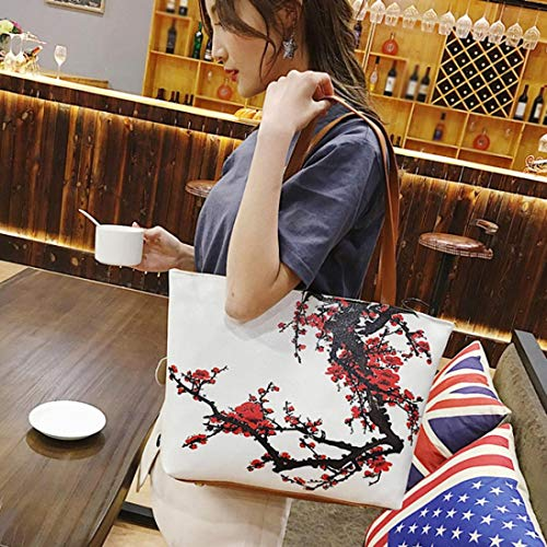 Leather Flower Vintage PU Pink Bag Women Shopping A Hot Bag Handbag Clearance Bag Quistal Red Tote Shoulder Shopper Ladies qwYgW4I