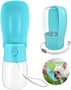 Dog Water Bottle,Foldable Pet Portable Water Dispenser Dogs, Leakproof Pet Water Bottle for Travel,BPA Free Water Bottle, for Cat,Dogs and Other Animals Water Cup